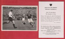 Austria v West Germany 1951 Happel Rapid Vienna Morlock Nuremburg Mebus Bayern Munich A20